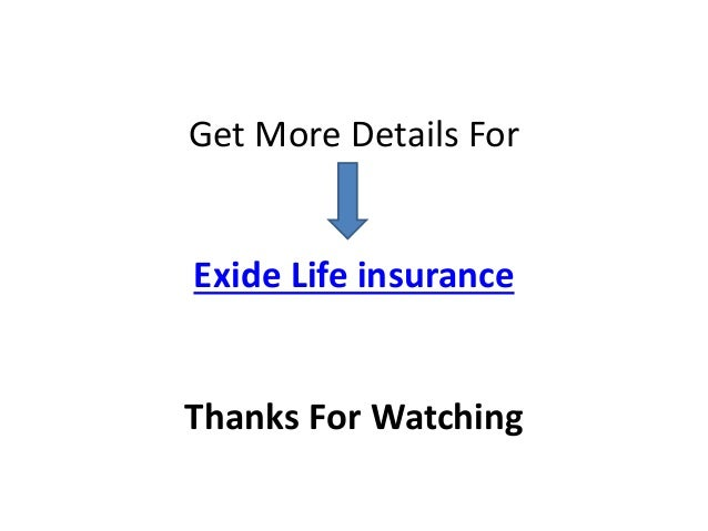 Exide Life Insurance - Choose your Best Plans Online
