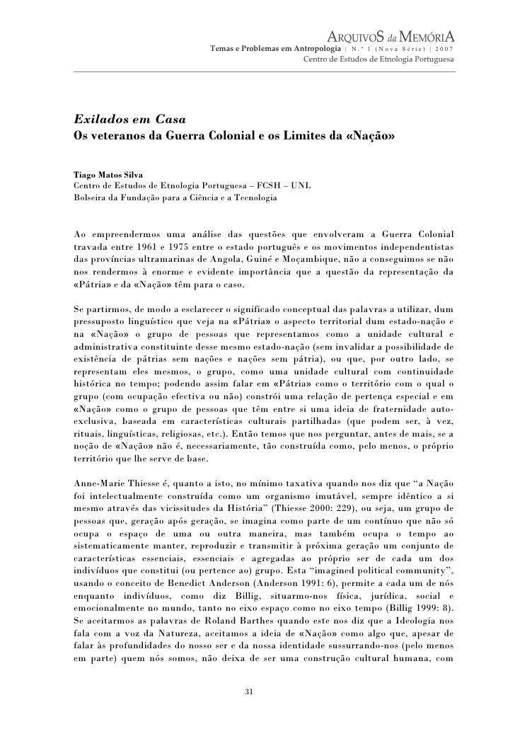 Temas e Problemas em Antropologia | N . º 1 ( N o v a S é r i e ) | 2 0 0 7                                               ...