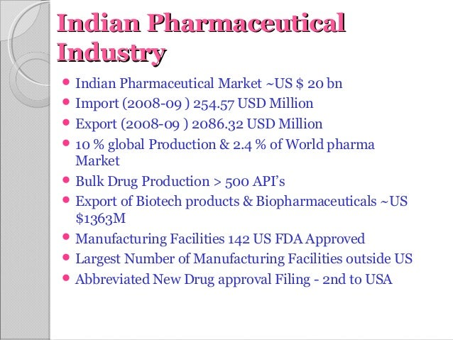 EXPORTS AND IMPORTS OF INDIAN PHARMACEUTICAL INDUSTRY
