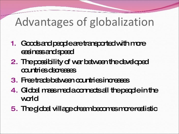 globalization benefits and drawbacks Advantages and disadvantages of globalization however, we are not so thankful to globalization for taking our jobs away from us many countries experience.
