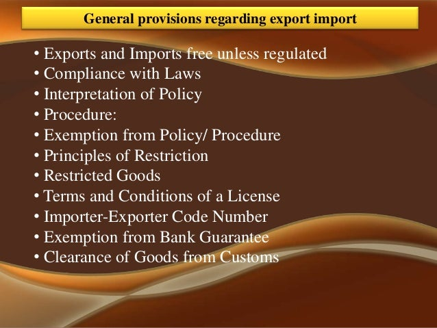 exim policy The export and import policy or the exim policy, 1992-97 was a significant landmark in india's economic history for the first time.