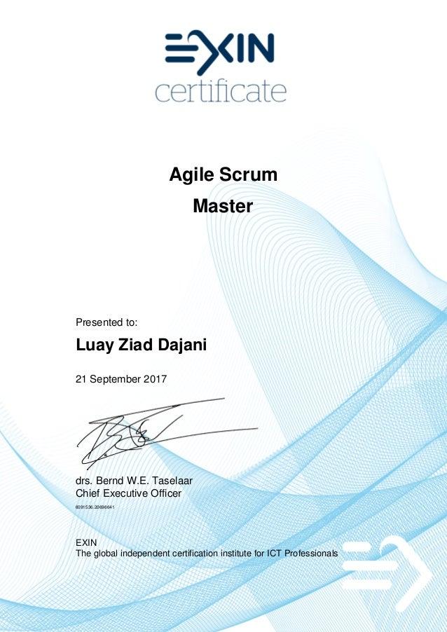 Exin Agile Scrum Master Asm