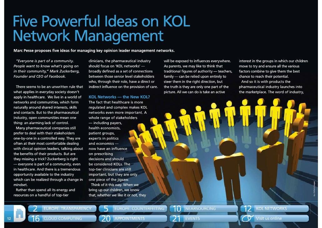 5 powerful ideas on KOL network management