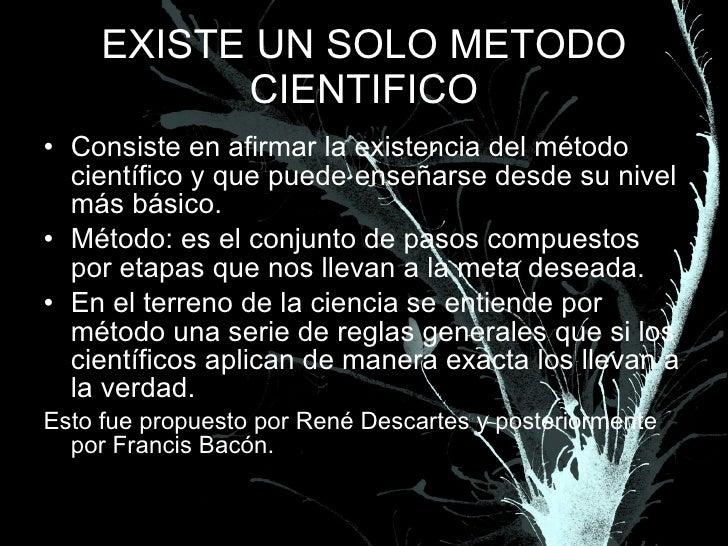 Existe el metodo cientifico for En que consiste el metodo cientifico