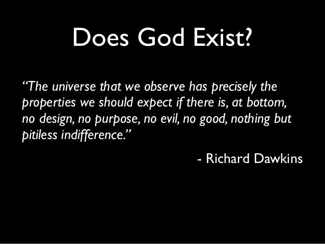 does god exists Michael ross offers tips for answering skeptics who doubt the existence of god.
