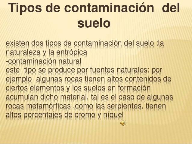 Existen dos tipos de contaminaci n del suelo for Que es la clausula suelo de los bancos