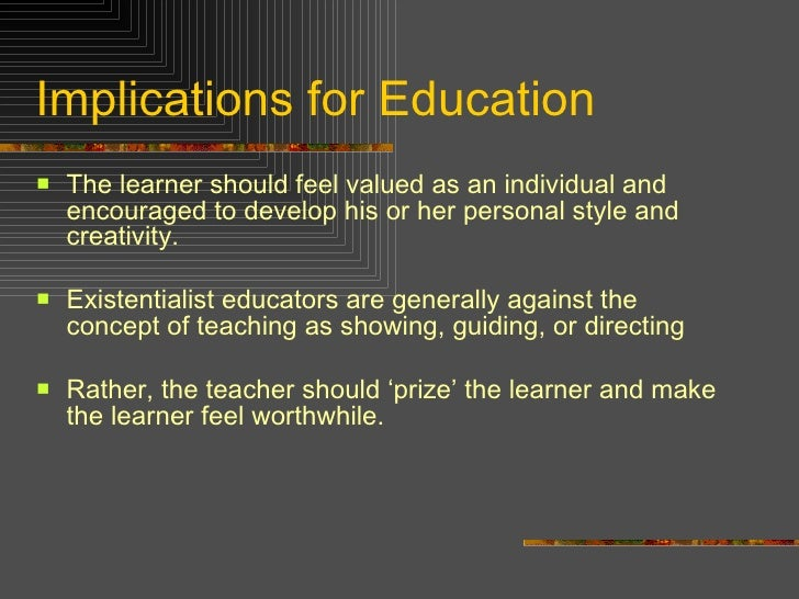 ppt on existentialism and education