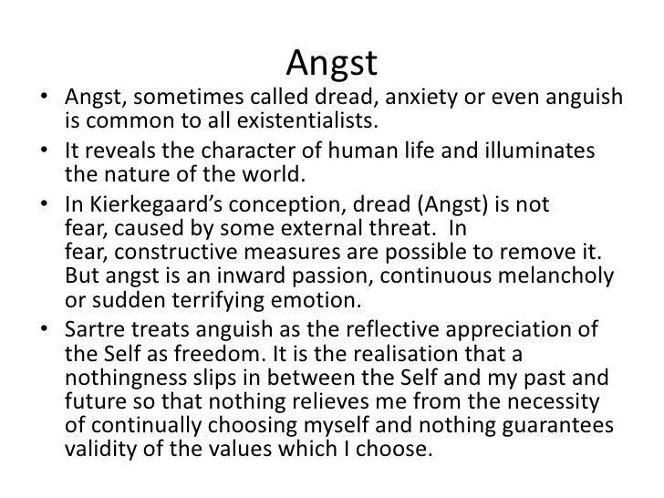 Sartre anguish