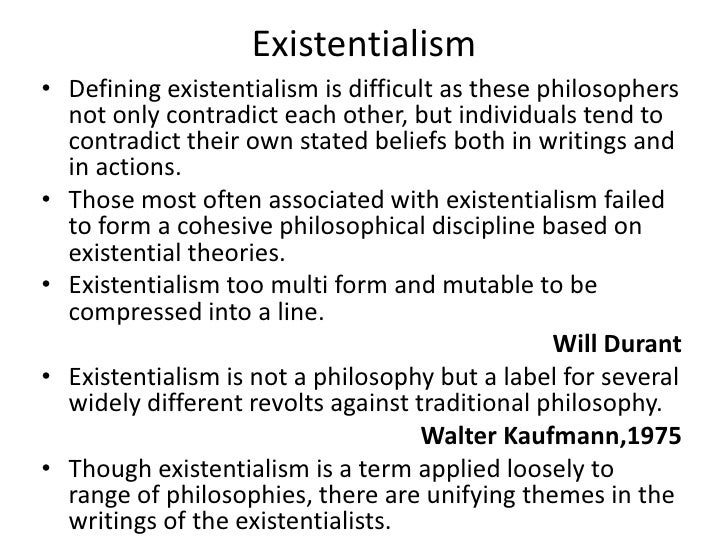 existentialism definition literature