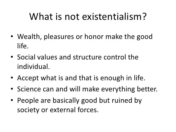 an analysis of the individual free will and the concepts of existentialism and determinism Freedom and determinism i human nature and is their analysis of the meaning of free existentialism means that we are thrown into the world as.