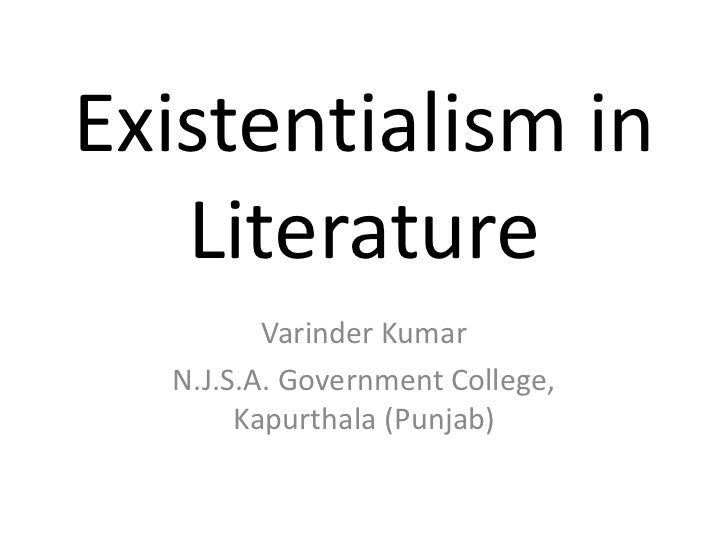existentialism in literature Literary analysis, part 1: existentialism  to see existentialism in literature, check out: crime and punishment by fyodor dostoevsky.