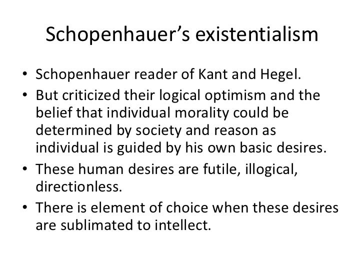 An analysis of the schopenhauer