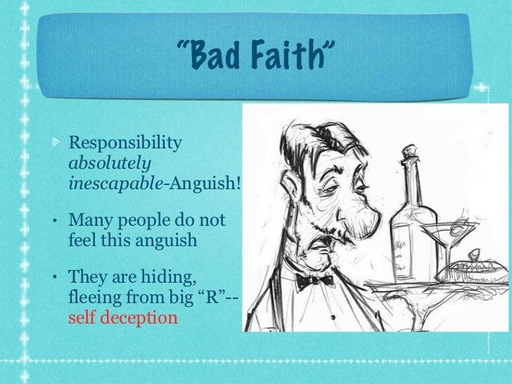 Sartre bad faith