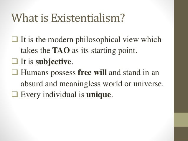 Philosophy Of Education Existentialism
