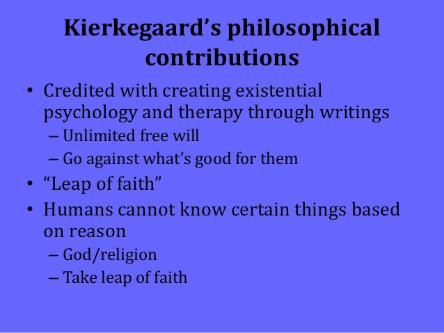kierkegaards influence on the existentialists Those philosophers considered existentialists are mostly from the we look very briefly at the influence of existentialism, especially outside kierkegaard's work takes place against the background of an academia dominated by hegelian dialectics and a society which reduces the.