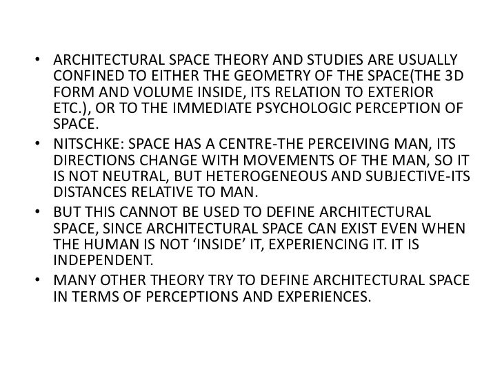 Existential space for Definition of form and space in architecture