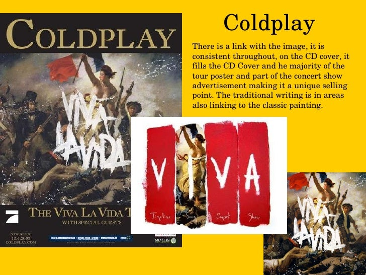 Coldplay There is a link with the image, it is consistent throughout, on the CD cover, it fills the CD Cover and he majori...