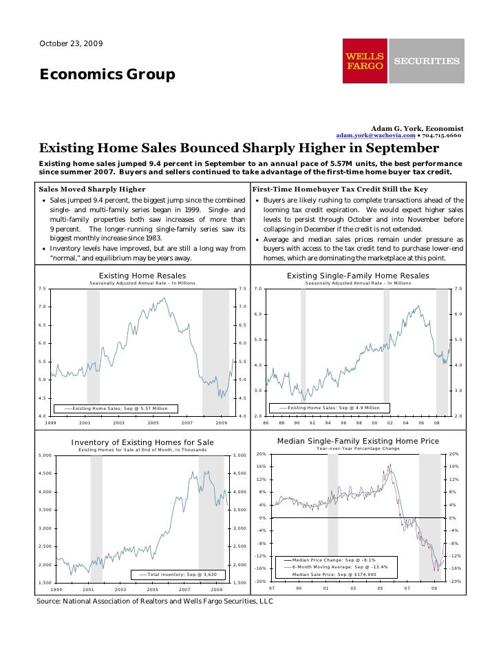 October 23, 2009    Economics Group                                                                                       ...