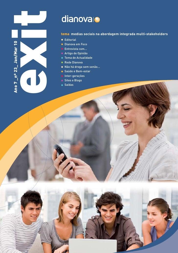 exit                        tema medias sociais na abordagem integrada multi-stakeholders                               Ed...