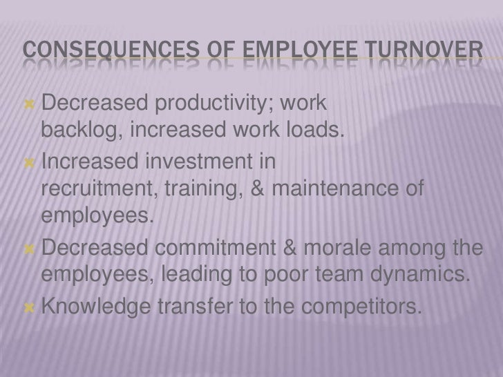 """major causes of employee turnover in organizations is inadequate compensation In addition to traditional """"pay and benefit"""" compensation, some companies also opt to offer additional perks such as flexible schedules, remote work privileges, on-site by understanding the common reasons for high employee turnover, you will be better able to protect your business from a similar fate."""