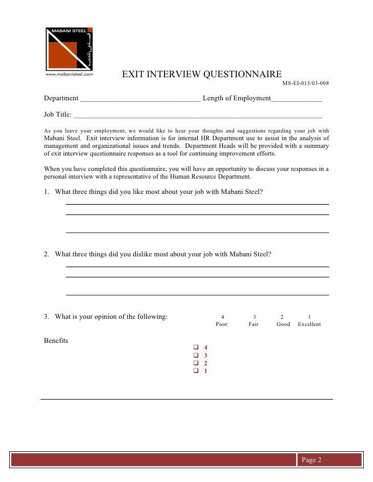 EXIT INTERVIEW QUESTIONNAIRE                                                                                        MS-EI-...