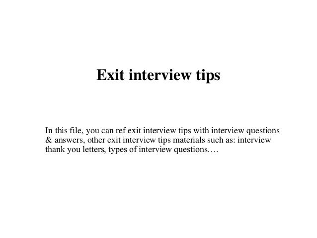 Exit Interview Letter To Employer from image.slidesharecdn.com