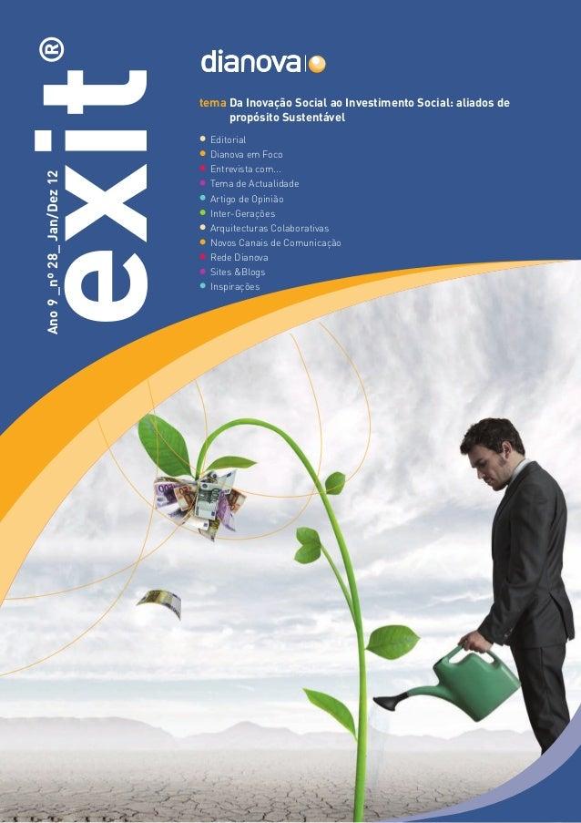 ®exit                        tema Da Inovação Social ao Investimento Social: aliados de                                   ...