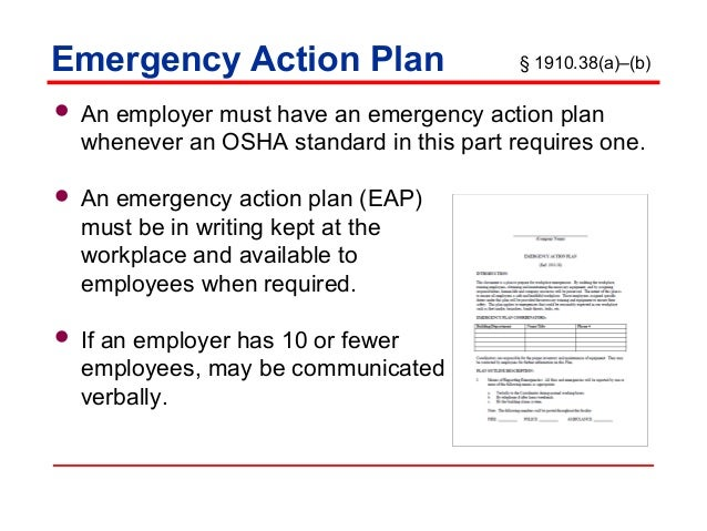 Emergency Action Plans Training By Nmed