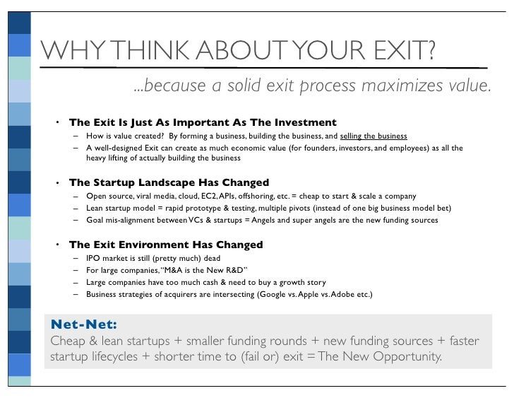 Startup exit strategy thought piece v76 accmission Image collections