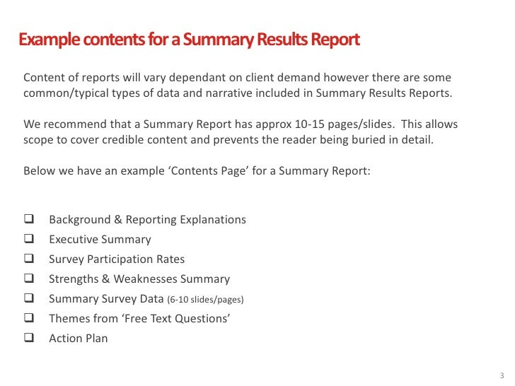 how to write an executive summary for a project