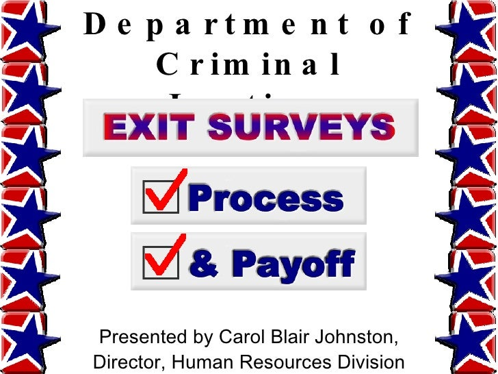 Texas Department of Criminal Justice Presented by Carol Blair Johnston, Director, Human Resources Division