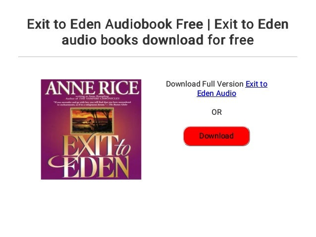 Book exit to eden