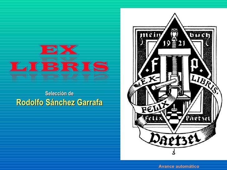 Selección de Rodolfo Sánchez Garrafa Avance automático