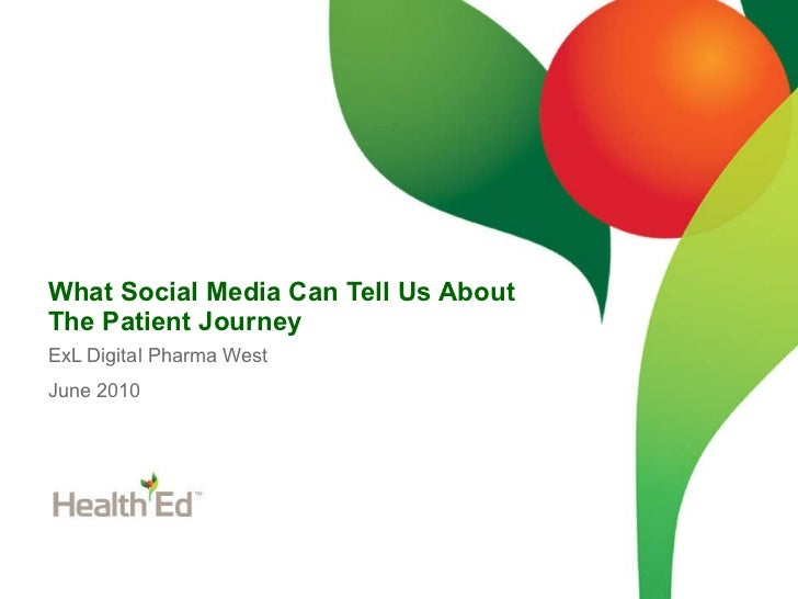 What Social Media Can Tell Us About The Patient Journey ExL Digital Pharma West June 2010