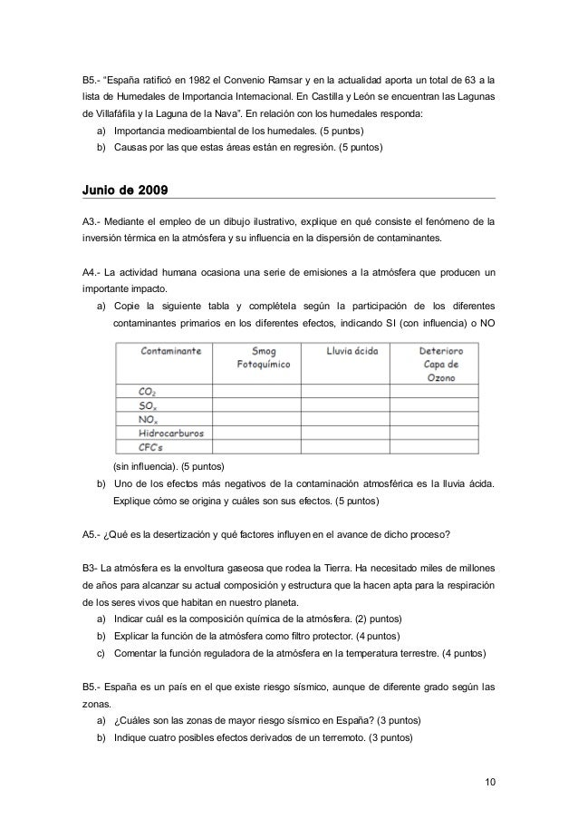 """B5.- """"España ratificó en 1982 el Convenio Ramsar y en la actualidad aporta un total de 63 a la lista de Humedales de Impor..."""