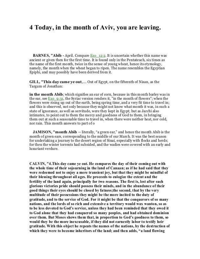 Exodus 13 commentary