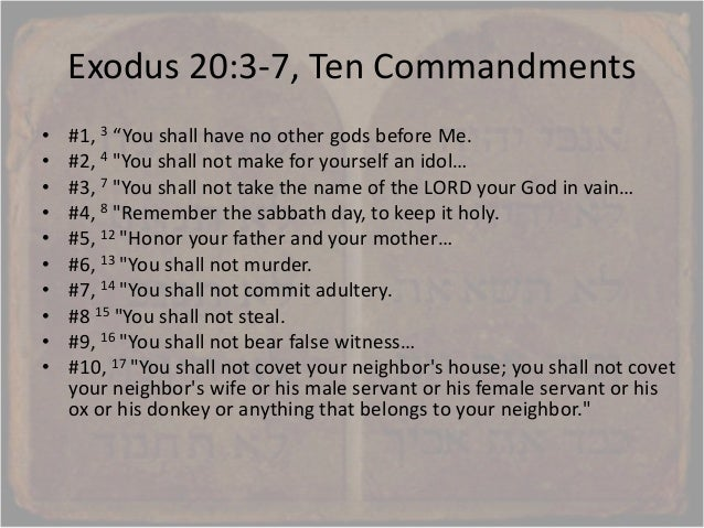 , the ten words, 9 commandments are repeated in the nt, catholic ten ...