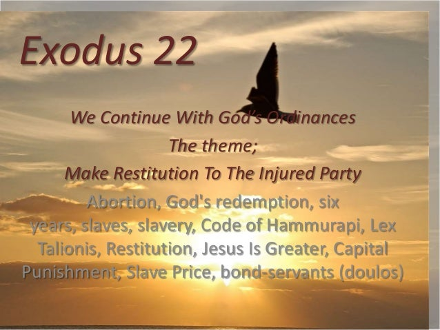 Exodus 22 24, israel's boundary, how big a land grant