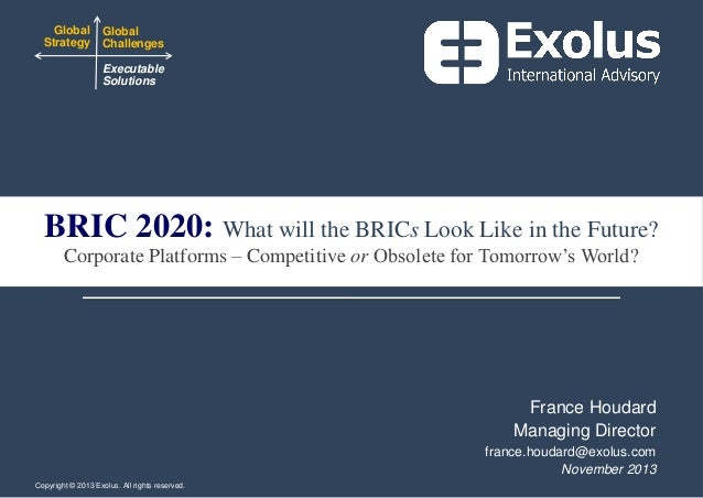 Global Global Strategy Challenges Executable Solutions  BRIC 2020: What will the BRICs Look Like in the Future? Corporate ...
