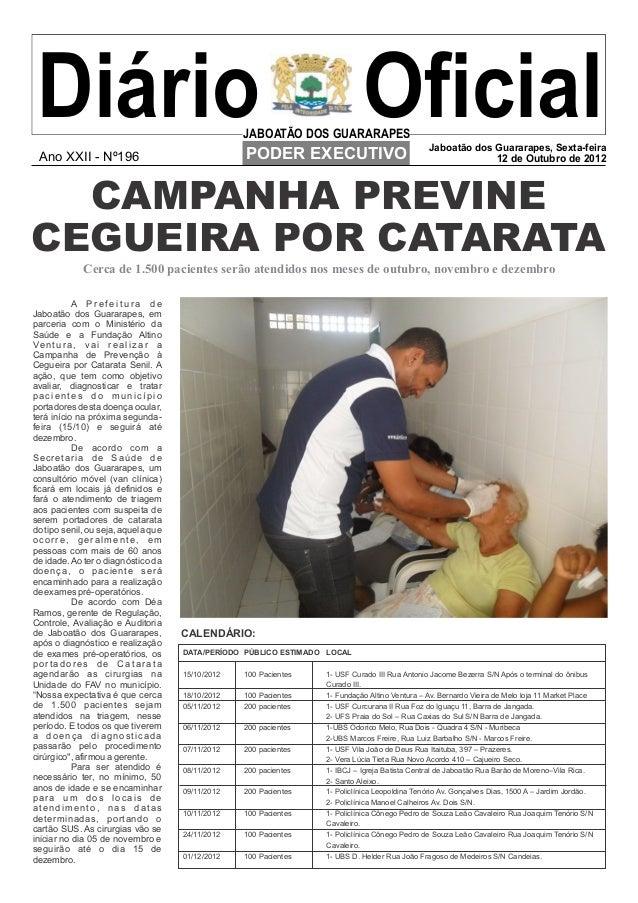 Diário  Ano XXII - Nº196                                                      JABOATÃO DOS GUARARAPES                     ...