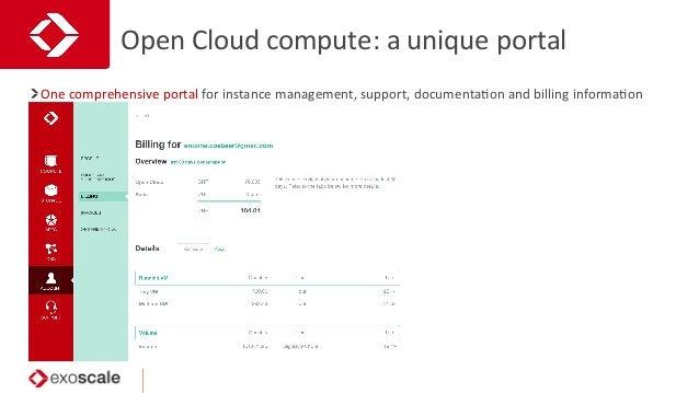 Open  Cloud  compute:  a  unique  portal   One  comprehensive  portal  for  instance  management, ...