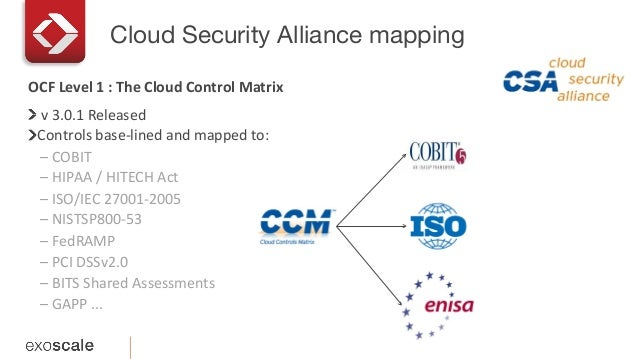 Cloud Security Alliance mapping   v  3.0.1  Released     Controls  base-‐lined  and  mapped  to:   ...