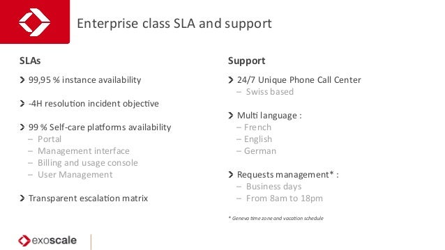 Enterprise  class  SLA  and  support     99,95  %  instance  availability     -‐4H  resoluJon ...