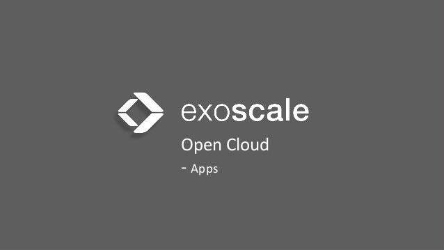 Open  Cloud     -‐  Apps