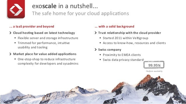 exoscale at the CloudStack User Group London - June 26th 2014 Slide 3