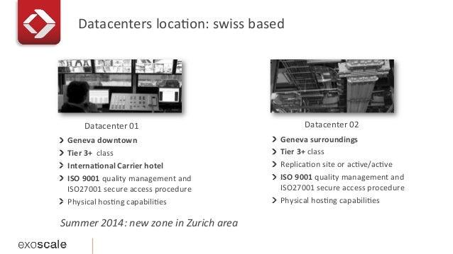 Datacenters  locaEon:  swiss  based   !   Geneva  downtown   !   Tier  3+    class   !   Inte...