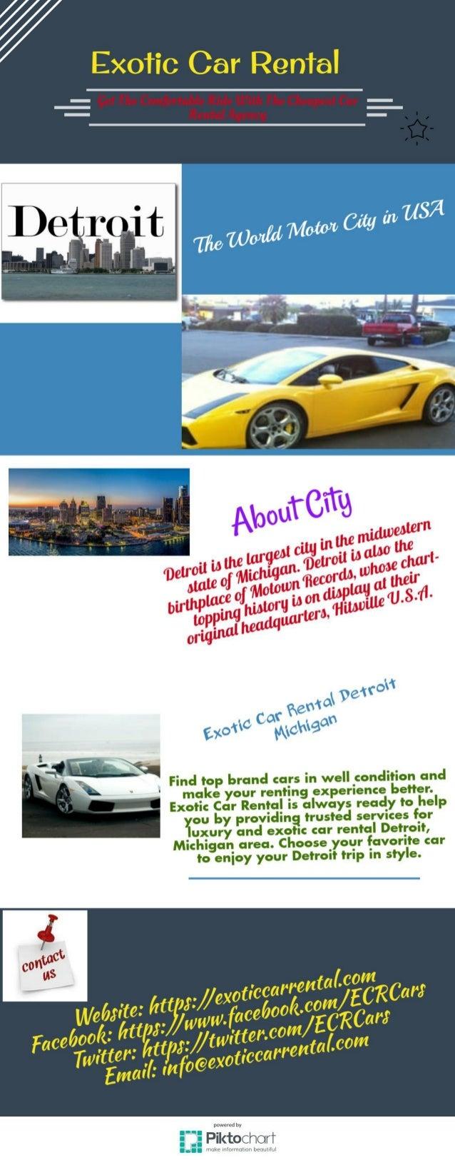 Exotic Car Rental Detroit Michigan