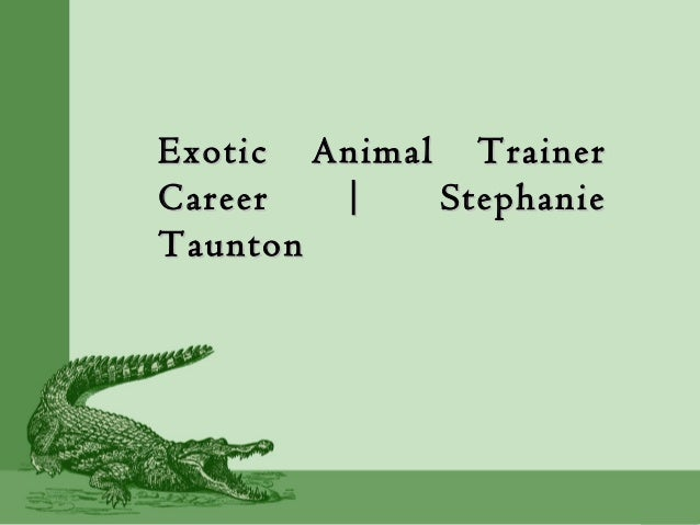 Exotic Animal TrainerExotic Animal Trainer Career | StephanieCareer | Stephanie TauntonTaunton