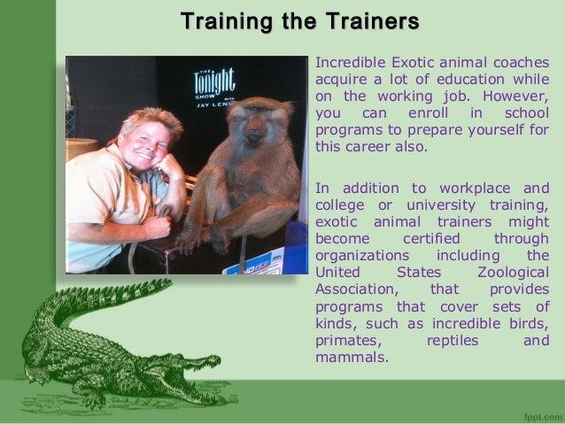 Stephanie Taunton Exotic Animal Trainer Career