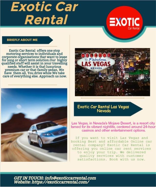 Exotic Car Rental Las Vegas Nevada